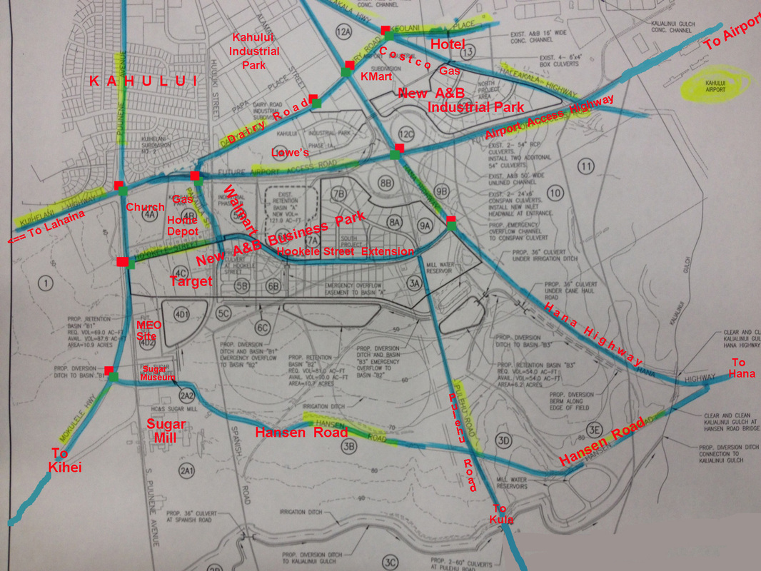 Maui Traffic Map.New Kahului Highways And Roads Alliance Of Maui Community Associations