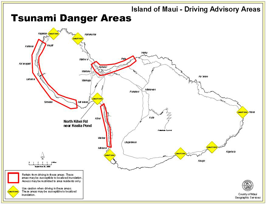 Tsunami Danger Areas